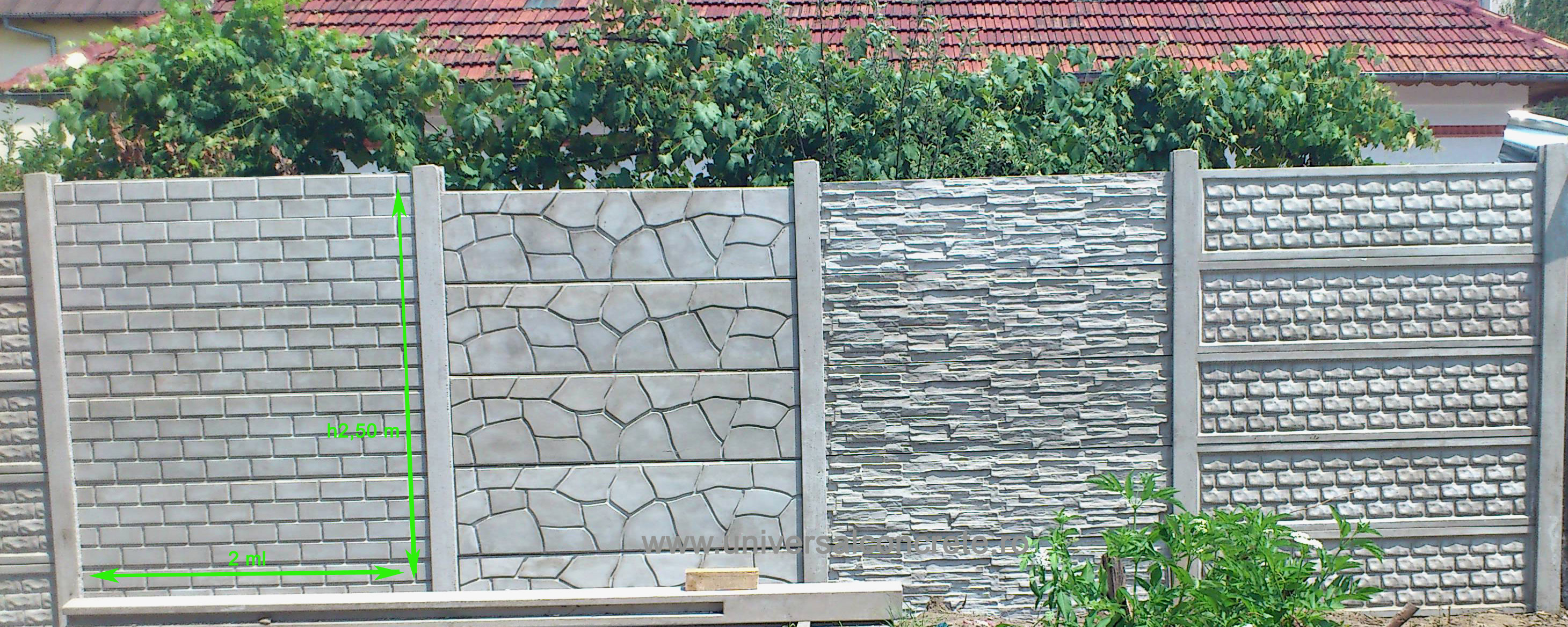 pin gard din beton fier forjat garduri porti ajilbabcom portal on pinterest. Black Bedroom Furniture Sets. Home Design Ideas